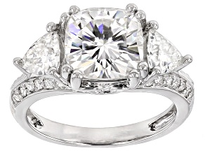 Pre-Owned Moissanite Platineve Ring 4.54ctw DEW