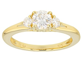 Pre-Owned Moissanite 14k Yellow Gold Over Silver Ring .80ctw D.E.W