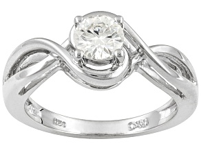 Pre-Owned moissanite platineve ring .60ct