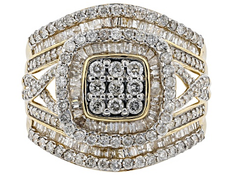 Pre-Owned White Diamond 10k Yellow Gold Ring 1.95ctw