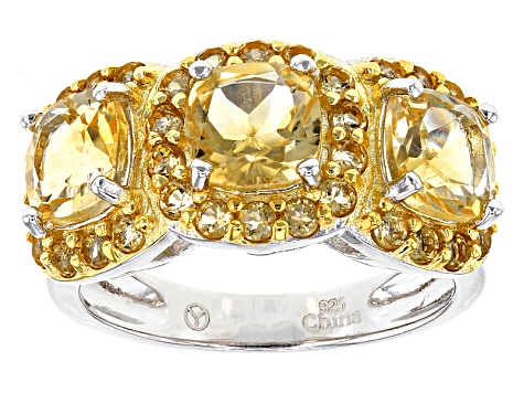 Pre-Owned Yellow Citrine Sterling Silver Ring 4.25ctw