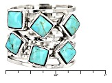 Pre-Owned Turquoise Kingman Silver Ring