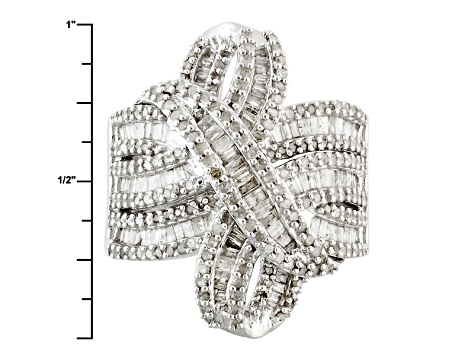 Pre-Owned Diamond Silver Ring 1.65ctw
