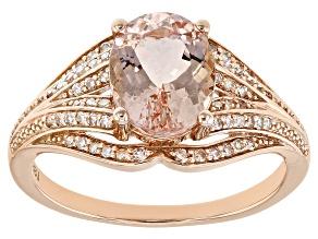 Pre-Owned Pink Cor-De-Rosa Morganite™ 10k Rose Gold Ring 1.60ctw