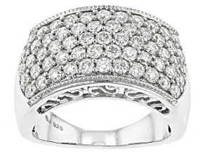 Pre-Owned Moissanite Platineve Ring 1.77ctw D.E.W