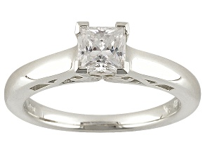Pre-Owned Moissanite Platineve ring .70ctw D.E.W
