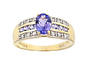 Pre-Owned Blue Tanzanite 14k Yellow Gold Ring 1.05ctw