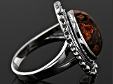 Pre-Owned Multicolor Jasper Sterling Silver Ring