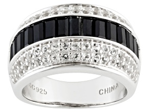 Pre-Owned Black Spinel Sterling Silver Ring 2.63ctw