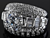 Pre-Owned Cubic Zirconia Sterling Silver Ring 5.74ctw