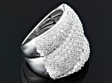 Pre-Owned Cubic Zirconia Sterling Silver Ring 6.90ctw