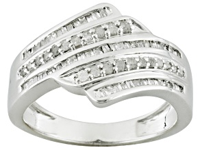 Pre-Owned Diamond Rhodium Over Silver Ring .46ctw
