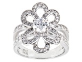 Pre-Owned White Cubic Zirconia Sterling Silver Ring 2.71ctw