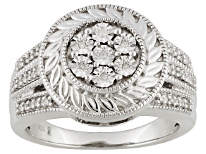 Pre-Owned Diamond Sterling Silver Ring .10ctw