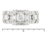 Pre-Owned White Cubic Zirconia Rhodium Over Silver Ring 4.20ctw