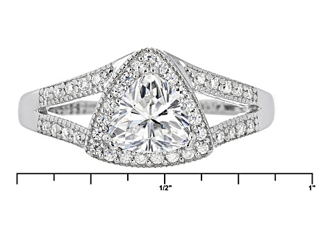 Pre-Owned Moissanite Platineve Ring 1.19ctw D.E.W