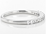 Pre-Owned White Sapphire 10k White Gold Ring .56ctw