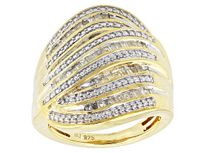 Pre-Owned 14k Yellow Gold Over Silver Ring .55ctw