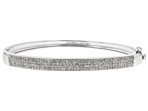 Pre-Owned White Diamond Rhodium Over Sterling Silver Bracelet 1.00ctw