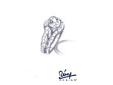 Pre-Owned White Cubic Zirconia Sterling Silver Ring With Jacket 7.65ctw