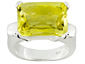 Pre-Owned Yellow Quartz Sterling Silver Ring 6.53ctw