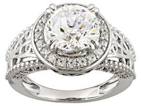 Pre-Owned Cubic Zirconia Silver Ring 5.49ctw (3.30ctw DEW)