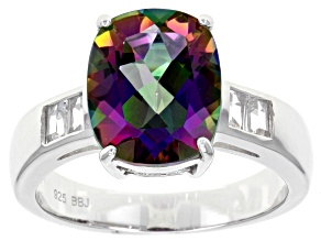 Pre-Owned Green Mystic Topaz® sterling silver ring 4.27ctw