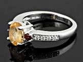 Pre-Owned Golden Hessonite Sterling Silver Ring 1.71ctw