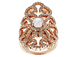 Pre-Owned Cubic Zirconia 18k Rose Gold Over Silver Ring 3.42ctw (1.82ctw DEW)