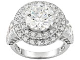 Pre-Owned Cubic Zirconia Sterling Silver Ring 8.80ctw