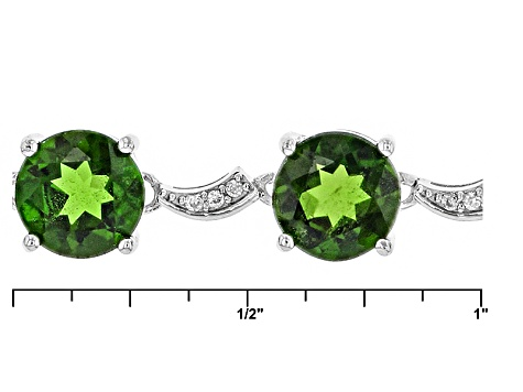 Pre-Owned Green Chrome Diopside Sterling Silver Bracelet 5.09ctw