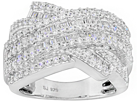Pre-Owned Cubic Zirconia Silver Ring 2.05ctw