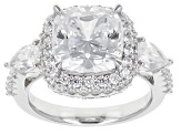 Pre-Owned Cubic Zirconia Sterling Silver Ring 11.33ctw