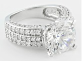Pre-Owned Cubic Zirconia Sterling Silver Ring 8.19ctw