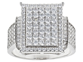Pre-Owned White Cubic Zirconia Rhodium Over Silver Ring 2.55ctw