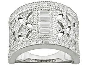 Pre-Owned Cubic Zirconia Silver Ring 1.88ctw
