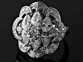 Pre-Owned Cubic Zirconia Silver Ring 5.09ctw