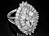 Pre-Owned Cubic Zirconia Sterling Silver Ring 4.65ctw