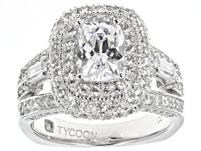 Pre-Owned White Cubic Zirconia Platineve Ring 5.01ctw