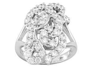 Pre-Owned White Cubic Zirconia Sterling Silver Ring 2.66ctw