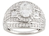 Pre-Owned Cubic Zirconia Silver Ring 4.15ctw