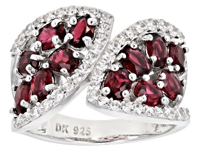 Pre-Owned Red Spinel Rhodium Over Silver Ring 2.22ctw