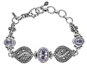 Pre-Owned Purple Lavender Moon Quartz Silver Bracelet 8.51ctw