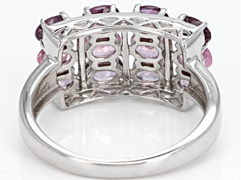 Pre-Owned Mixed-color spinel rhodium over silver ring 2.02ctw