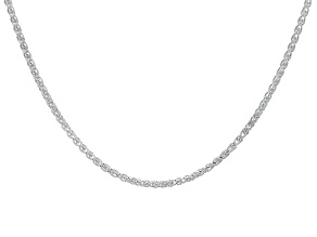 Pre-Owned Sterling Silver Diamond Cut Wheat Chain 30 inch