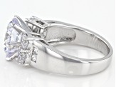 Pre-Owned White Cubic Zirconia Rhodium Over Sterling Silver Ring 8.09ctw