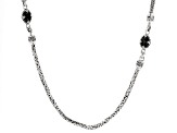 Pre-Owned Black Spinel Sterling Silver Necklace 4.26ctw