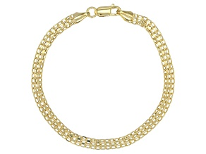 Pre-Owned 10K Yellow Gold Bismark Bracelet 7.5 Inch