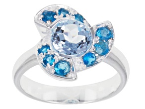 Pre-Owned Sky Blue Topaz Sterling Silver Ring 1.81ctw