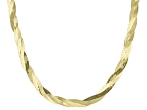 Pre-Owned 10k Yellow Gold Herringbone Link Necklace 18 inch